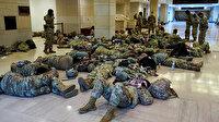 ABD Kongresini koruyan Ulusal Muhafızlar uyurken görüntülendi