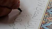 Cumhurbaşkanı Erdoğan ve Sağlık Bakanı Koca için 6 ayda el yazması Kur'an-ı Kerim yazdı