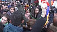 Paşinyan'ın sözcüsü Rusya karşıtı gösterilerde görüntülendi