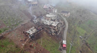 Trabzon'un Araklı'da yangının hasarı gün ağarınca ortaya çıktı