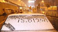 İstanbullular güne kar yağışı ile uyandı