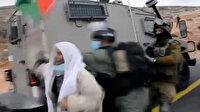 İşgalci İsrail askerleri 72 yaşındaki Filistinli yaşlı adamı yaka paça gözaltına alındı