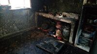 Sobayı tutuşturmak isterken ev yandı