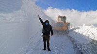 Kar kalınlığı 3 metreyi aştı yollar kapandı