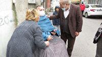 Yangın çıktı: Yürüme engelli adama komşuları yardım etti