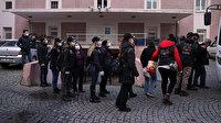 İzmir merkezli terör operasyonunda gözaltına alınanlar adliyeye sevk edildi