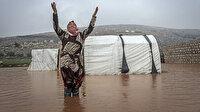 Dokuz yıldır değişmeyen dram: 50 bin sığınmacının çadırı sular altında