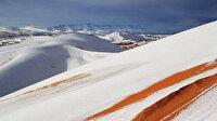 Sahra Çölü'ne 42 yılda dördüncü kez kar yağdı