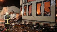 Edirne'de tarihi müftülük binası alev alev yandı