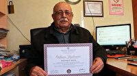 Eğitim aşkı yaş dinlemiyor: 72 yaşında üçüncü diplomasını aldı