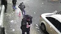 Şişli'de buz sarkıtı kaldırımda yürüyen kişinin üzerine düştü