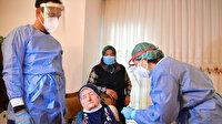 Bakan Koca'nın açıklaması sonrası ekipler harekete geçti: 116 yaşında iki kadına koronavirüs aşısı yapıldı