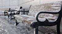 Ağrı yine zirvede: Eksi 28 derecede tüm şehir buz tuttu