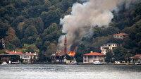 Tarihi Vaniköy Camii'ndeki yangını elektrik tesisatından çıkmış