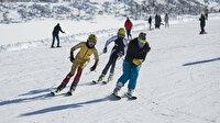 Tunceli'de kayak sezonu açıldı: Pistler dolup taşıyor