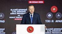 """Cumhurbaşkanı Erdoğan, """"Malatya'da bin 195, Elazığ'da 5 bin 500 konutu daha ailelerimize teslim ettik"""""""