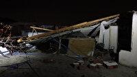 Meteoroloji uyarmıştı: Bursa'da bir evin çatısı uçtu