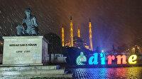 Beklenen kar yağışı Edirne'den yurda giriş yaptı