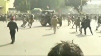 Hindistan'da çiftçiler traktörlerini polislerin üzerine sürdü