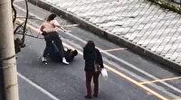 Aydın'da genç kadın elinde bıçakla terör estirdi