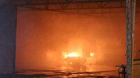 Vatandaşlar otoparkta çıkan yangında araçlarını son anda kurtardı
