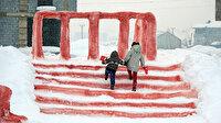 Yüksekovalı Hira'nın hayali babasının yaptığı kardan Anıtkabir'le gerçekleşti