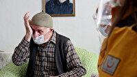 Bakan Koca aşı olan Selim dedenin gözyaşlarını tutamadığı duygu dolu görüntülerini paylaştı