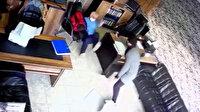 Esenyurt'ta İtalyan iş adamına biber gazlı saldırı güvenlik kamerasında