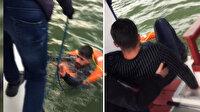 Haliç'te can pazarı: Denize atlayıp çırpınan kişi böyle kurtarıldı