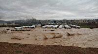 Afrin'de sığınmacıların kaldığı çadır kampı su bastı