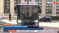 Cumhurbaşkanı Erdoğan sürücüsüz otobüsün ilk yolcusu