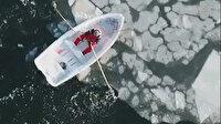 Finlandiya'da mucize kurtuluş: Hayatta kalmak için buz kütlelerini kürek çekerek itti