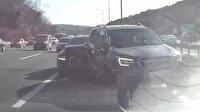 Beykoz'da kaza anı araç kamerasına anbean yansıdı