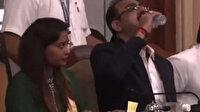 Hintli yetkili su şişesi sanarak dezenfektan içti
