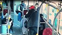 İzmir'de çarşaf giyen kadına saldırı anı güvenlik kamerasına yansıdı