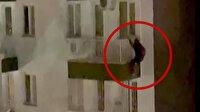 Örümcek adam gibi kaçmaya çalışan hırsızlık şüphelisi yakalanmaktan kurtulamadı