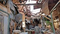 Lodos nedeniyle işyerinin çatısı çöktü