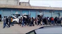 Hasekeli Kürt öğrenciler, öğretmenlerinin terör örgütü YPG/PKK tarafından alıkonulmasını protesto etti