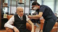 MHP Genel Başkanı Bahçeli ikinci doz aşısını yaptırdı