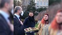 Boğaziçi Üniversitesi rektörü Melih Bulu'nun çikolata ikramına öğrencilerin tutumu damga vurdu