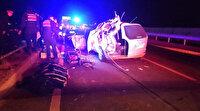 Konya'da feci kaza: 3 kişi hayatını kaybetti 5 kişi yaralandı