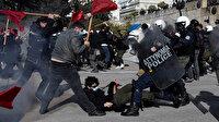 Yunan polisinden üniversite öğrencilerine dayak