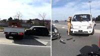 Otoyolda kamyonetle ters yöne giren maganda, kadın sürücünün aracına çarpıp kaçtı