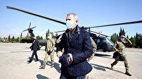 Milli Savunma Bakanı Akar komuta kademesi ile sınır hattındaki birlikleri denetliyor