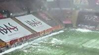 Galatasaray'da Kasımpaşa maçı öncesi stadyumun çatısındaki karlar temizlendi