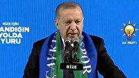 Cumhurbaşkanı Erdoğan'dan ABD'ye: Hani siz teröristlerin yanında durmuyordunuz, bal gibi de yanındasınız ve arkasındasınız