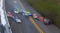 NASCAR yarışında yürekler ağza geldi: 16 araç pistin ortasında birbirine girdi