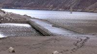 Kaleköy Baraj Gölünde su seviyesi azaldı: Köprü gün yüzüne çıktı 