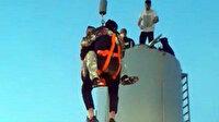 10 metrelik su deposunda 15 saat esaret: Donmak üzere olan çifti itfaiye kurtardı
