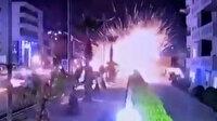Irak'ta ABD üssüne füzeli saldırı kameraya yansıdı